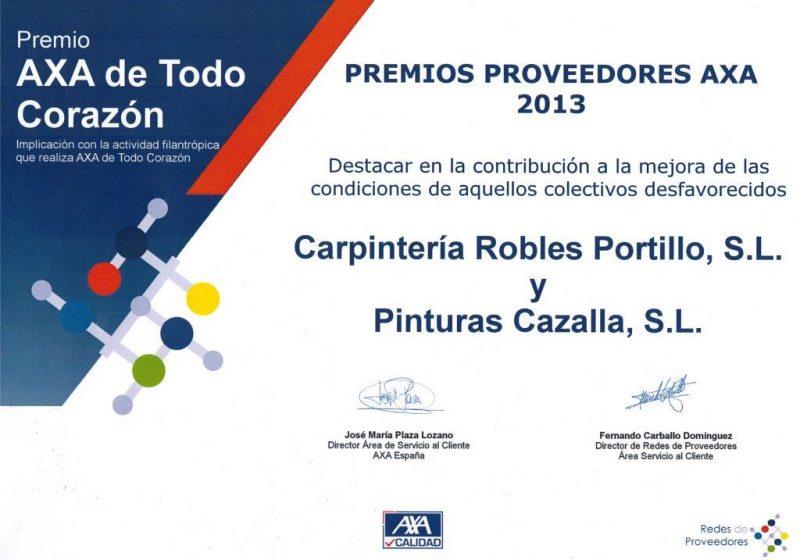 Premio AXA proveedores